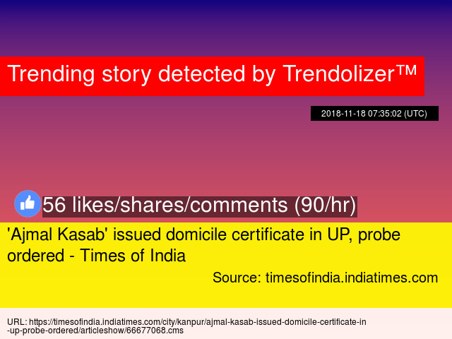 Ajmal Kasab Issued Domicile Certificate In Up Probe Ordered