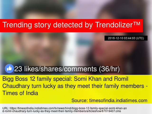 Bigg Boss 12 family special: Somi Khan and Romil Chaudhary
