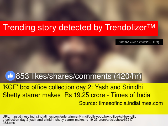 KGF' box office collection day 2: Yash and Srinidhi Shetty starrer