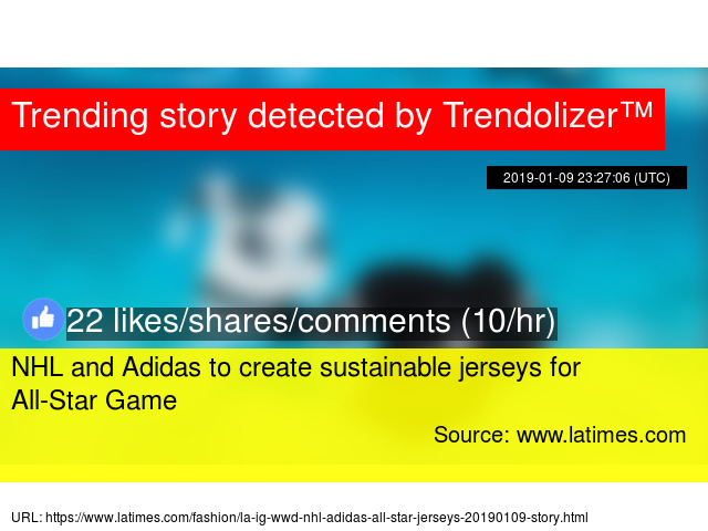 NHL and Adidas to create sustainable jerseys for All-Star Game 2970e272a