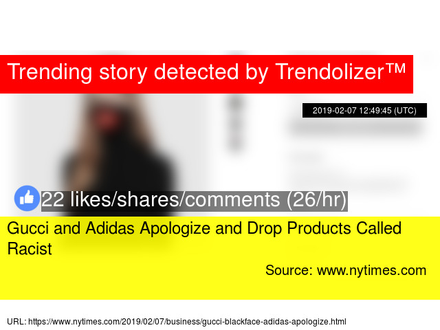 658f070d66a Gucci and Adidas Apologize and Drop Products Called Racist