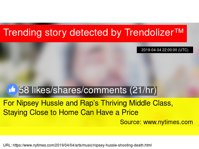 For Nipsey Hussle and Rap's Thriving Middle Class, Staying Close to