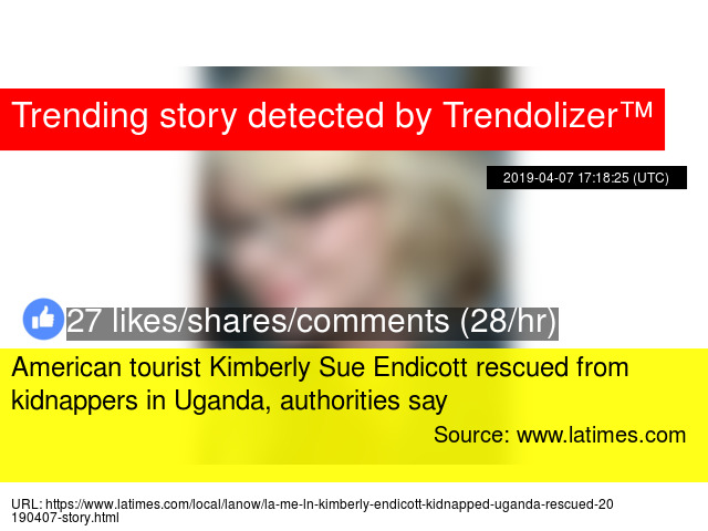 American tourist Kimberly Sue Endicott rescued from