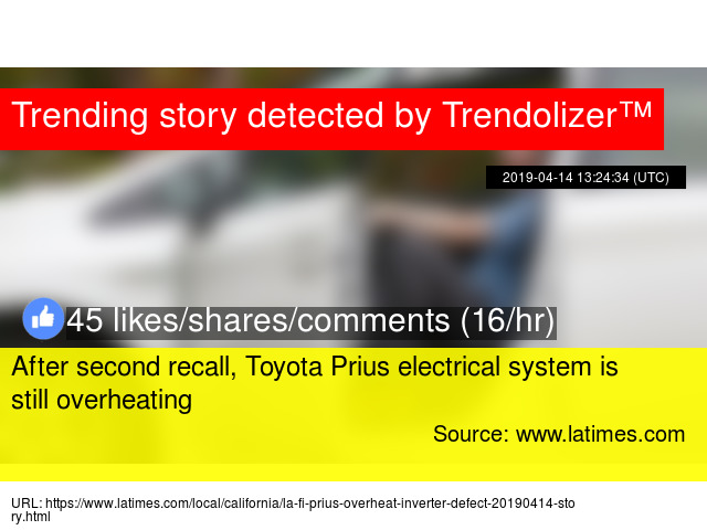 After second recall, Toyota Prius electrical system is still overheating