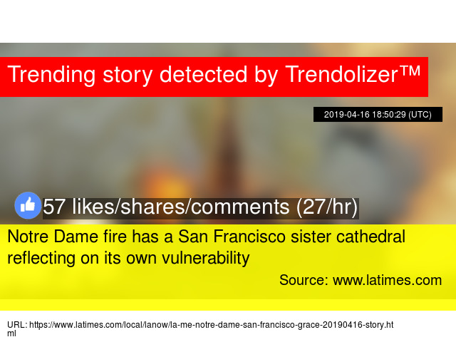 Notre Dame fire has a San Francisco sister cathedral