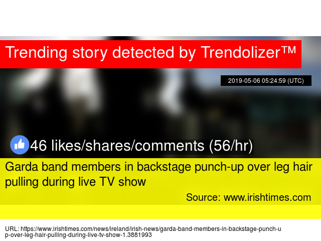 Garda band members in backstage punch-up over leg hair pulling