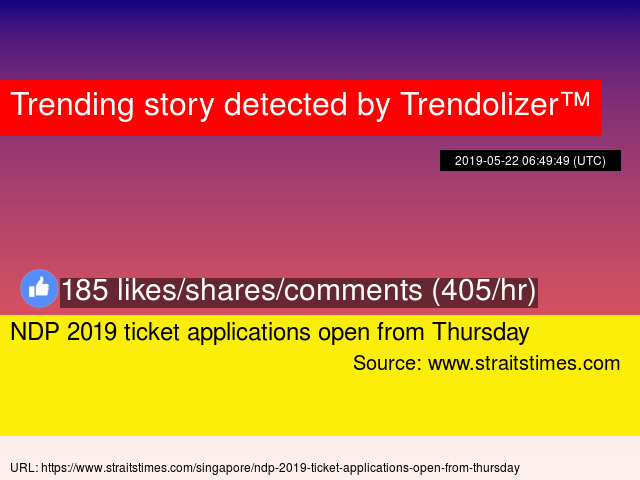 NDP 2019 ticket applications open from Thursday