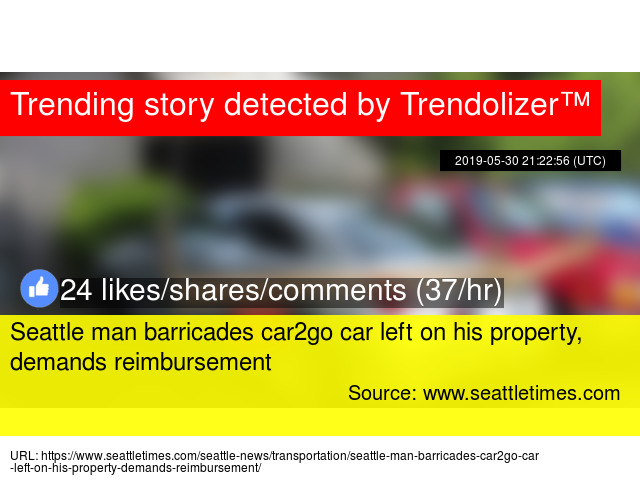Seattle Man Barricades Car2go Car Left On His Property Demands