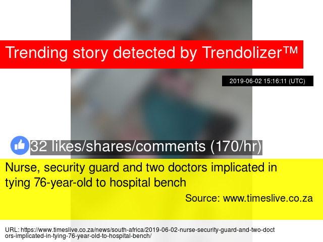 Nurse, security guard and two doctors implicated in tying 76