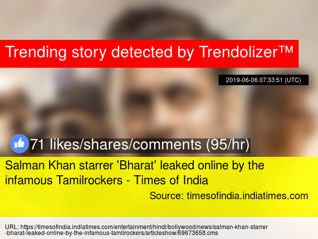 Salman Khan starrer 'Bharat' leaked online by the infamous