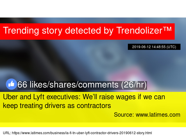 Uber and Lyft executives: We'll raise wages if we can keep