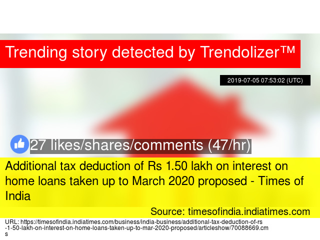 Business Use Of Home Deduction 2020.Additional Tax Deduction Of Rs 1 50 Lakh On Interest On Home