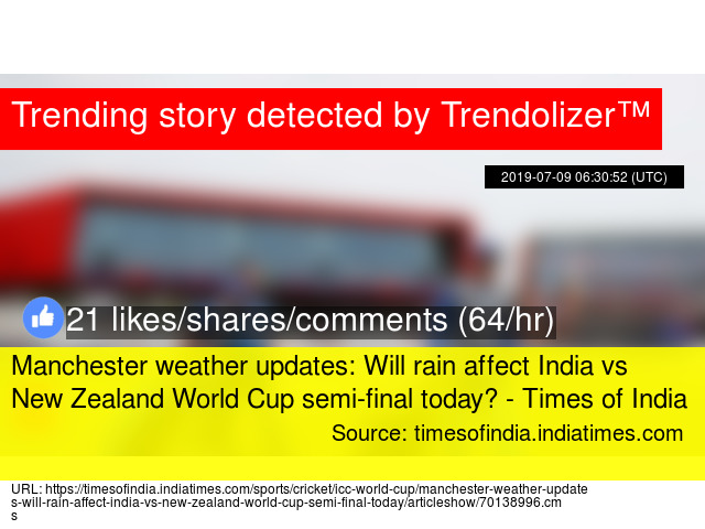 Manchester weather updates: Will rain affect India vs New Zealand