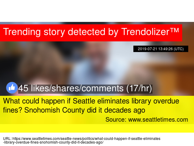 What could happen if Seattle eliminates library overdue fines