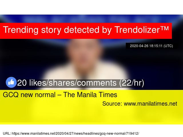 Gcq New Normal Ndash The Manila Times