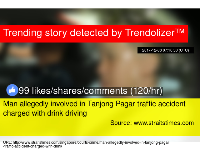 Man allegedly involved in Tanjong Pagar traffic accident