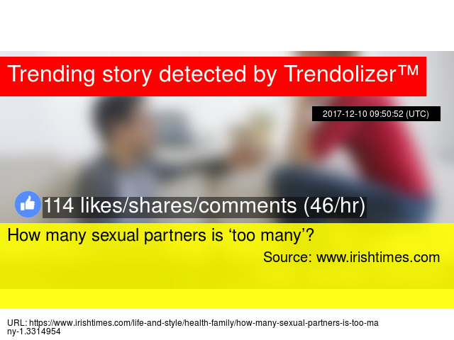 How many sex partners is too many