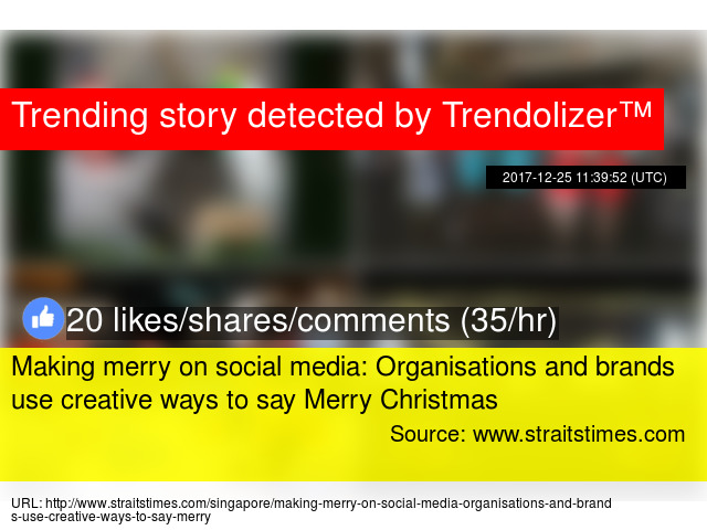 making merry on social media organisations and brands use creative ways to say merry christmas