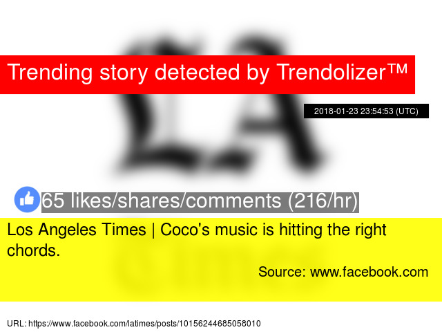 Los Angeles Times Coco039s Music Is Hitting The Right Chords