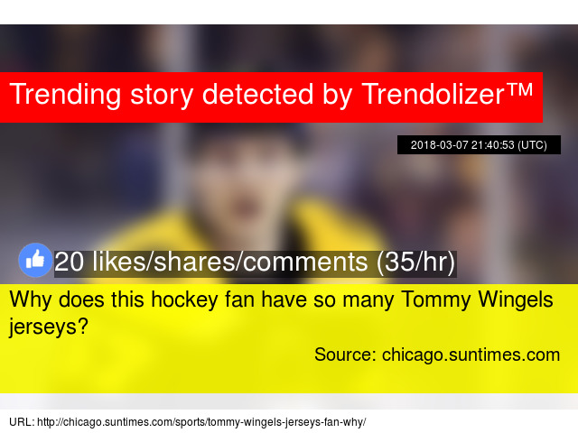 Why does this hockey fan have so many Tommy Wingels jerseys  1afdb4cdd