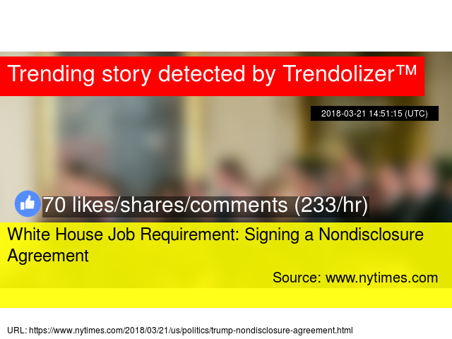 White House Job Requirement Signing A Nondisclosure Agreement