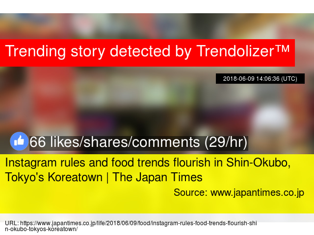 Instagram rules and food trends flourish in Shin-Okubo, Tokyo'
