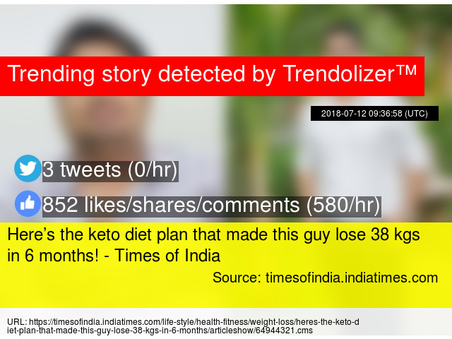 Here Rsquo S The Keto Diet Plan That Made This Guy Lose 38 Kgs In 6