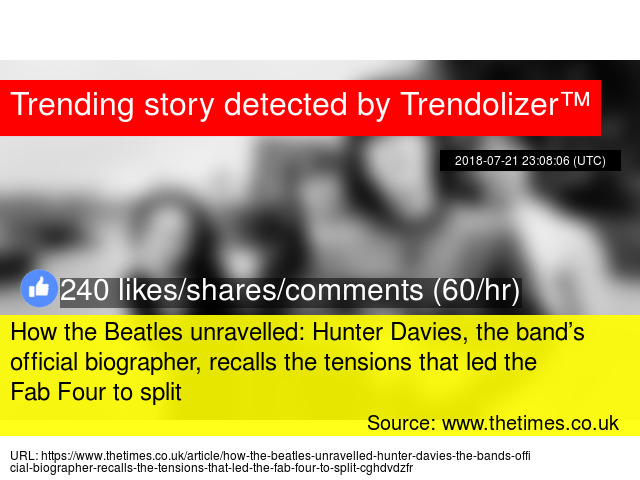 How The Beatles Unravelled Hunter Davies The Bands Official
