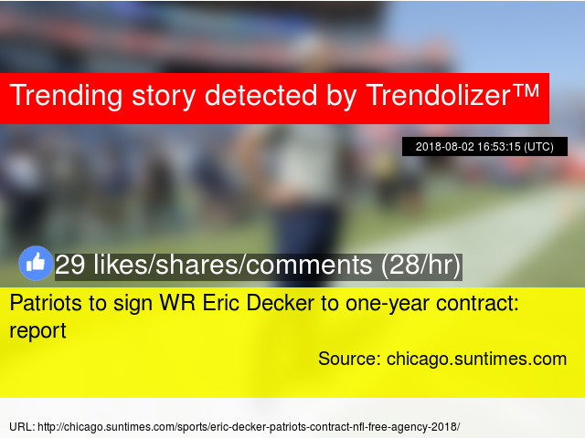4d6eff6b9 Patriots to sign WR Eric Decker to one-year contract  report