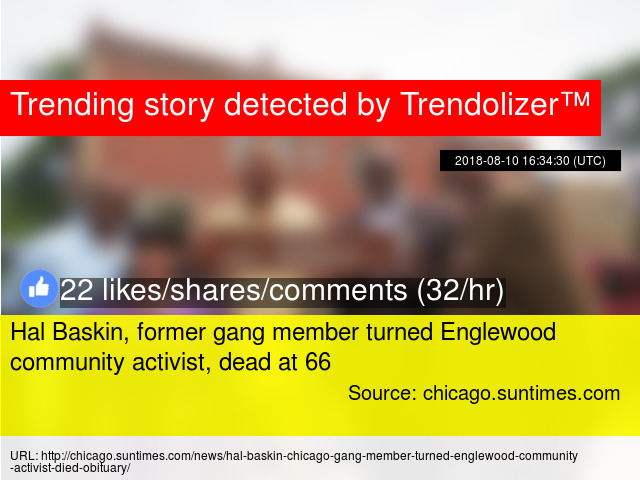 Hal Baskin, former gang member turned Englewood community