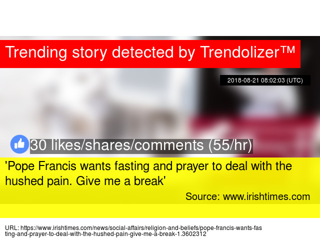 Pope Francis wants fasting and prayer to deal with the