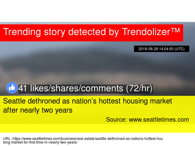 Seattle dethroned as nation'