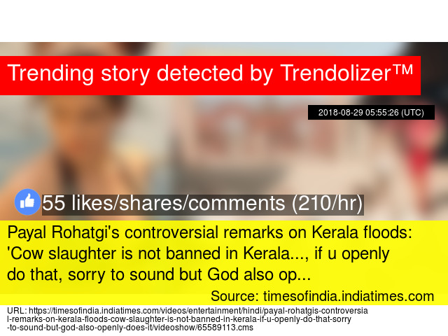 Payal Rohatgi's controversial remarks on Kerala floods: 'Cow