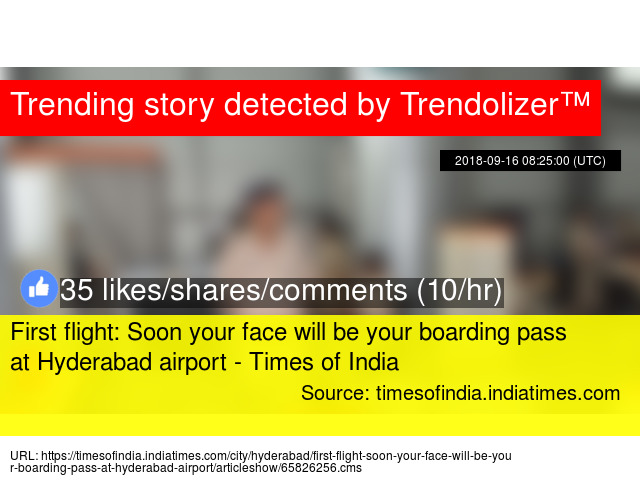 First Flight Soon Your Face Will Be Your Boarding Pass At Hyderabad