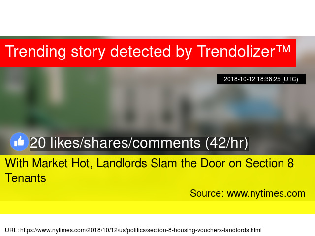 With Market Hot, Landlords Slam the Door on Section 8 Tenants