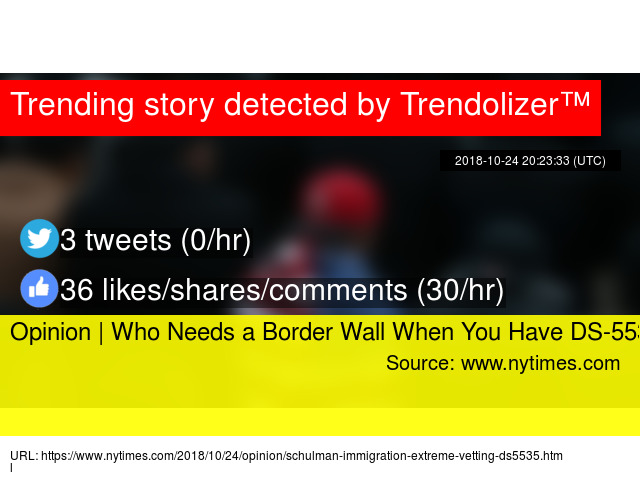 Opinion   Who Needs a Border Wall When You Have DS-5535?